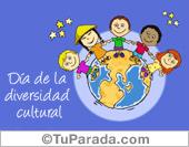 Tarjetas, postales: Día de la Diversidad cultural