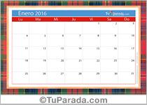 Calendario Deco 2016