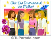 Cartões do Dia da Mulher