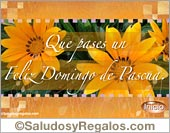 Tarjetas postales: Postal de feliz Domingo de Pascua