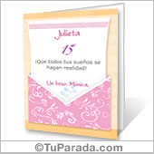 Tarjeta para imprimir: Sobre rosa