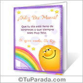 Tarjeta para imprimir: Feliz Día Mamá