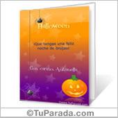 Tarjeta para imprimir: Noche de Halloween