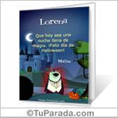 Tarjeta para imprimir: Festejo de Halloween