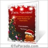 Tarjeta para imprimir: Saludo navideño