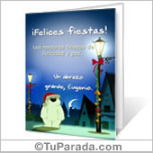 Tarjeta para imprimir: Felices Fiestas