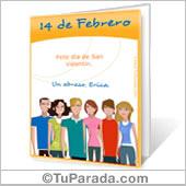Tarjeta para imprimir: Para San Valentín de grupo