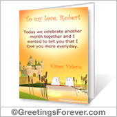 Printable card: We celebrate - For desktop
