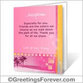 Printable card: Special message - For desktop