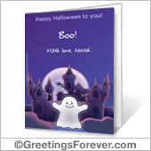 Printable card: Happy Halloween