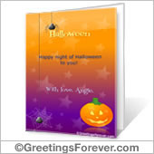 Printable card: Halloween