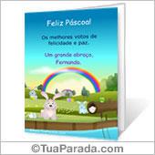 Cartão de Feliz Páscoa para imprimir