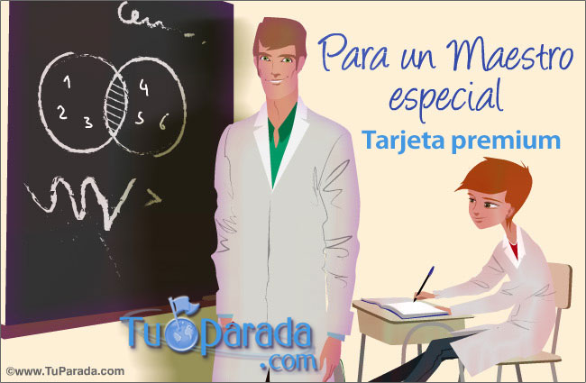 Tarjeta para maestros