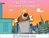 Tarjetas postales: Feliz día para un gran ingeniero