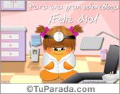 Tarjetas postales: Tarjeta de odontóloga