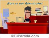 Tarjetas postales: Para un gran administrador