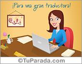 Tarjetas, postales: Tarjeta para una gran traductora