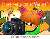 Tarjeta para una gran fotógrafa