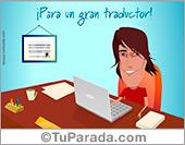 Tarjetas, postales: Tarjeta para un gran traductor