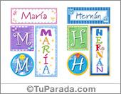 Nombres - Carteles e iniciales para mujer