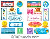 Nombres en stickers para varón