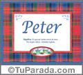 Peter - Significado y origen