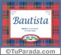 Bautista - Significado y origen
