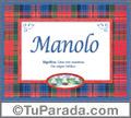 Manolo - Significado y origen