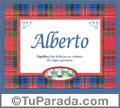 Alberto - Significado y origen