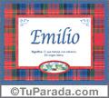 Emilio - Significado y origen