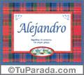 Alejandro - Significado y origen