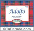 Adolfo - Significado y origen