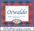 Oswaldo - Significado y origen