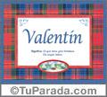 Valentín - Significado y origen