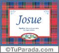 Josue - Significado y origen