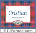 Cristian - Significado y origen