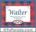 Walter - Significado y origen