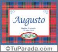 Significado y origen de Augusto para imprimir