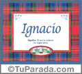 Ignacio, nombre, significado y origen de nombres