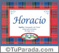 Significado y origen de Horacio para imprimir