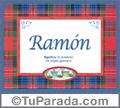 Ramón, nombre, significado y origen de nombres