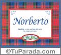 Significado y origen de Norberto para imprimir