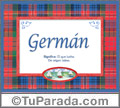 German, nombre, significado y origen de nombres