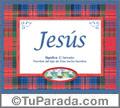 Significado y origen de Jesús para imprimir