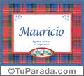 Mauricio, nombre, significado y origen de nombres
