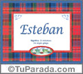 Significado y origen de Esteban para imprimir