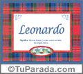 Leonardo, nombre, significado y origen de nombres