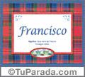 Francisco, nombre, significado y origen de nombres