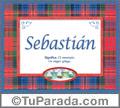 Sebastán, nombre, significado y origen de nombres