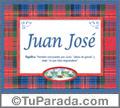 Significado y origen de Juan José para imprimir